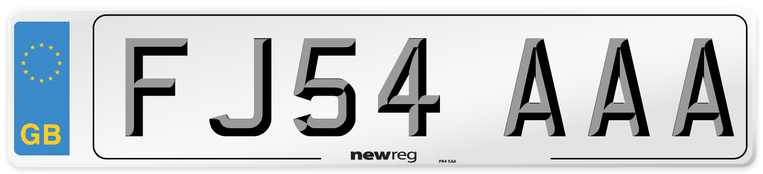 FJ54 AAA Number Plate from New Reg